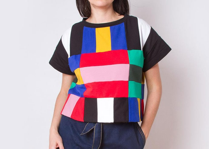 patchwork clothing top