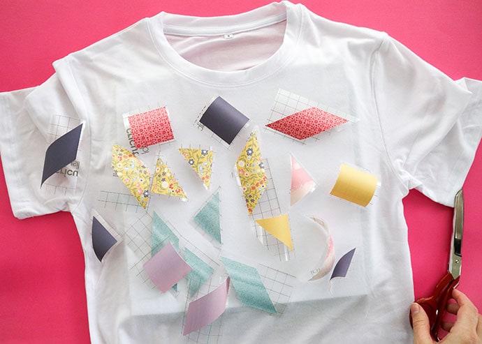 patchwork t-shirt design