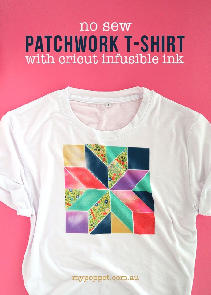 Cricut Infusible ink patchwork t-shirt - mypoppet.com.au
