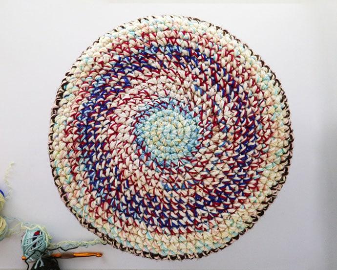 crochet basket base