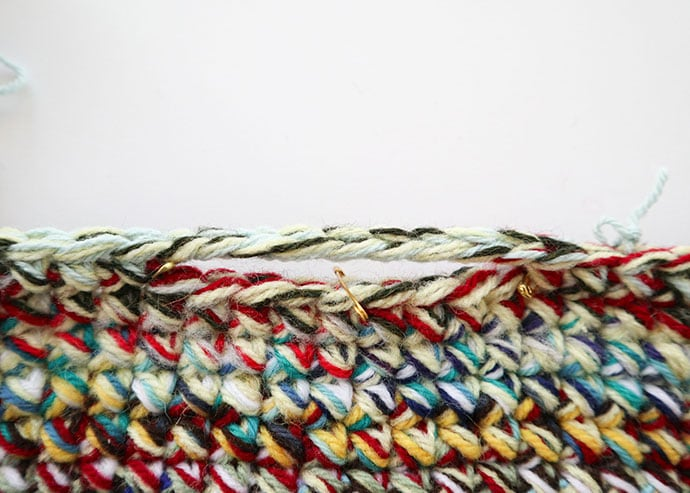 how to crochet a basket handle