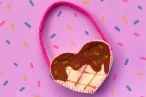 Mini Waffle purse DIY craft project