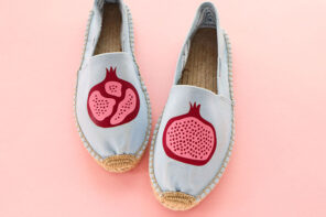Espadrilles makeover with iron on vinyl - cricut joy project idea