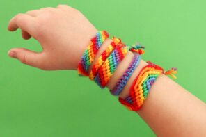Kids Craft: Rainbow Friendship Bracelets
