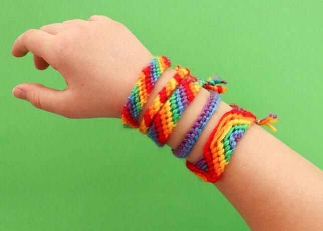 rainbow friendship bracelet patterns