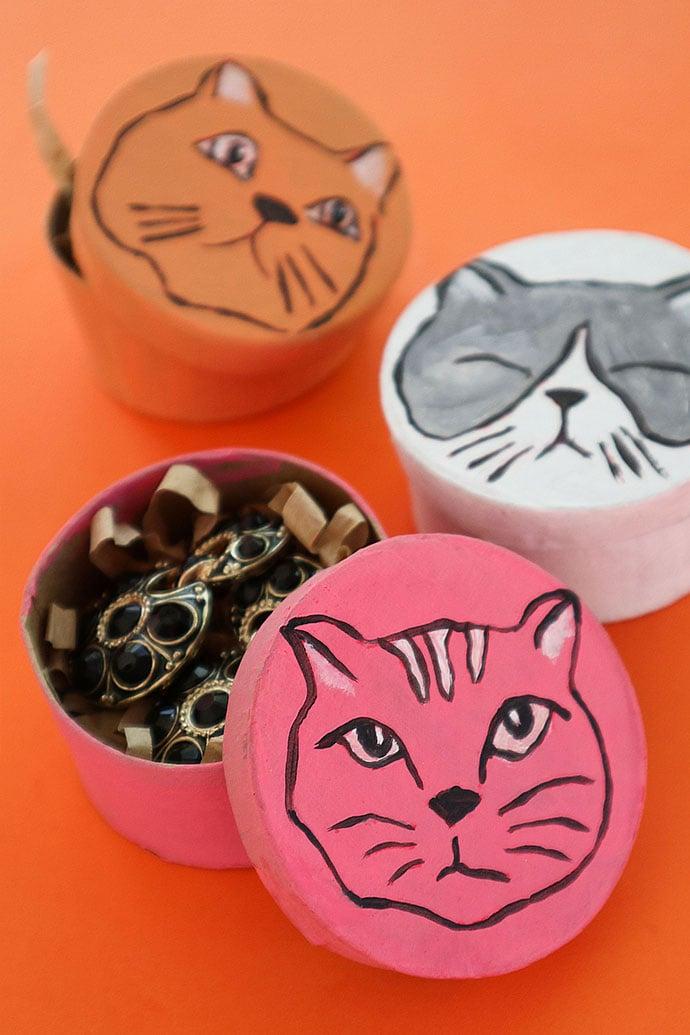 cat gift boxes - DIY craft