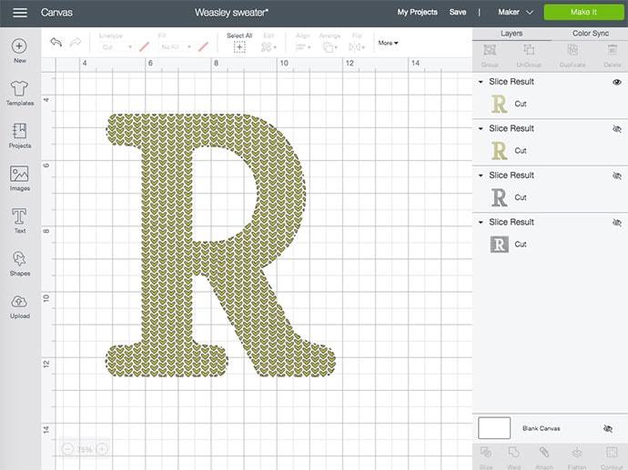 cricut design space slice tutorial