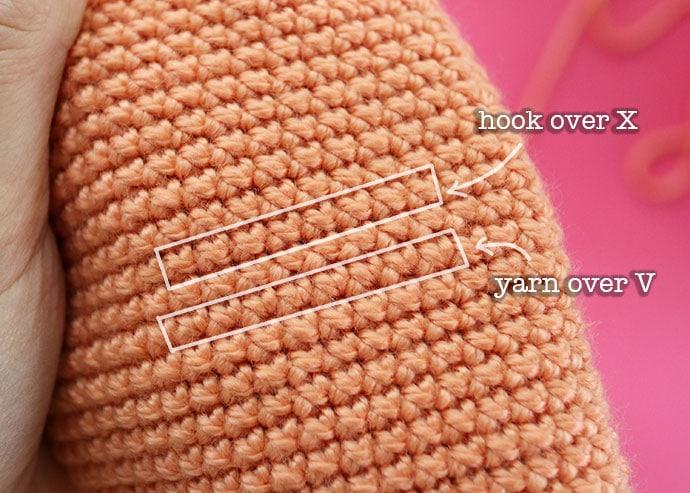 Yarn over vs yarn under single crochet