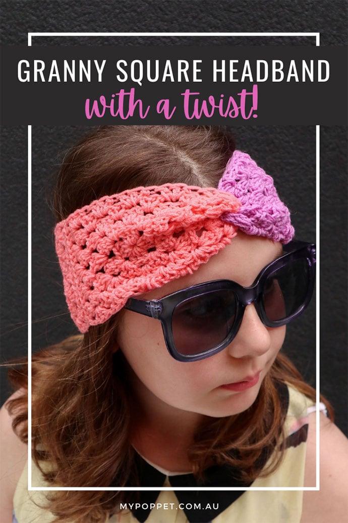 Make a crochet headband with a twist