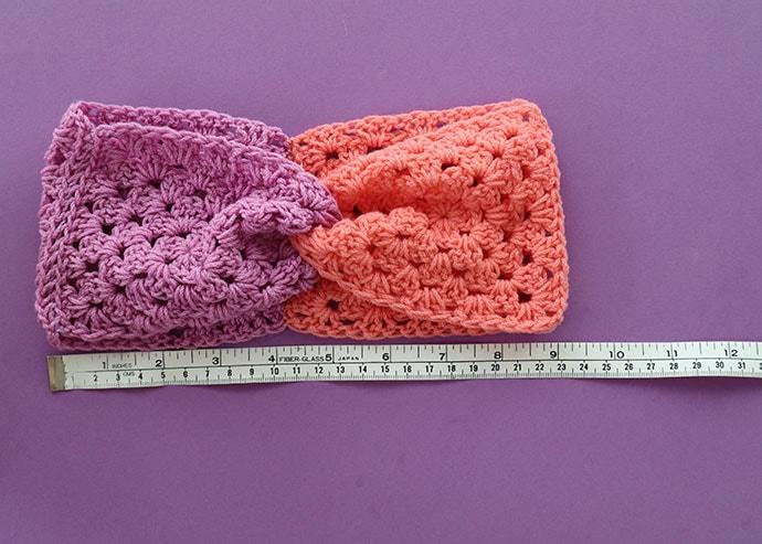 Granny square headband, fishined size