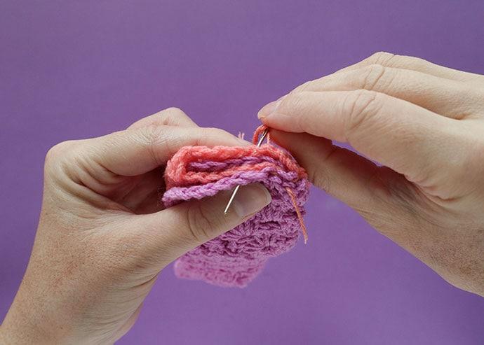 How to sew a twist headband steps
