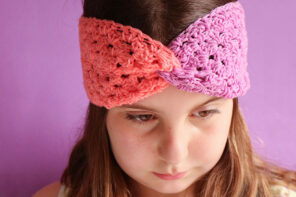 Colour Blocked Granny Square Headband
