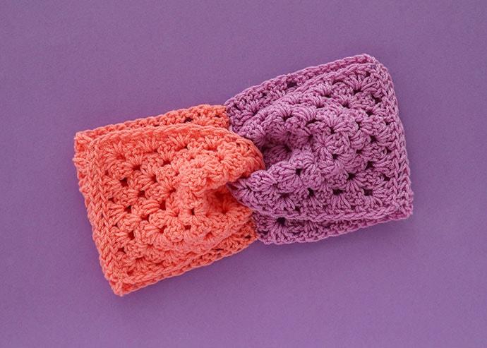 How to make a color blocked crochet headband