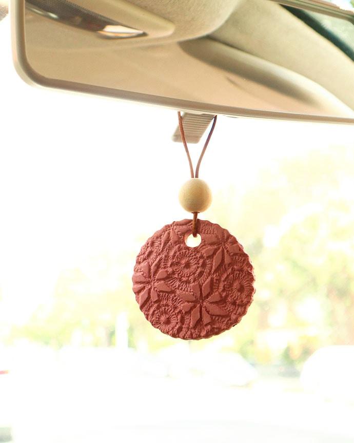terracotta car air freshener oil diffuser