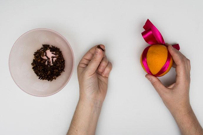 Making an Orange Pomander