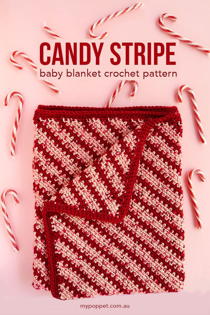 Candy Stripe Crochet Baby Blanket