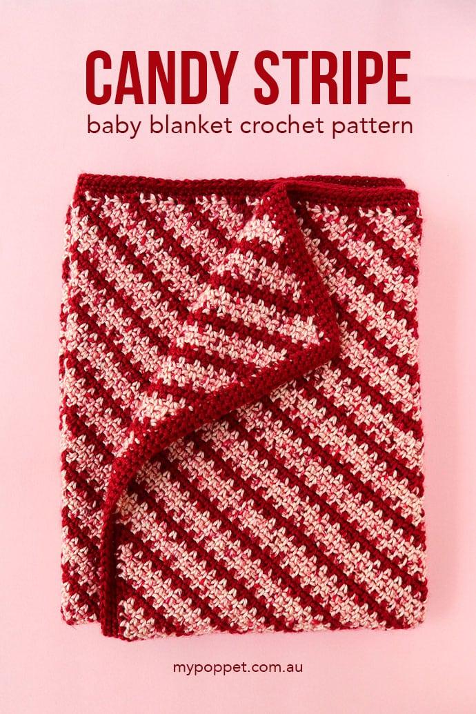Stripe blanket crochet baby blanket