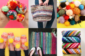 scrap yarn craft project ideas collage
