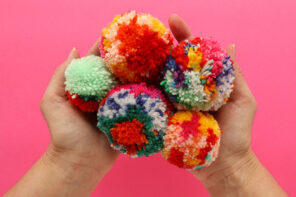 Let's Make Scrap Yarn Pom Poms