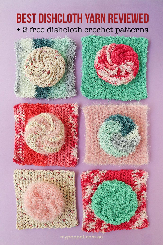 square and rounds crochet dishcloths