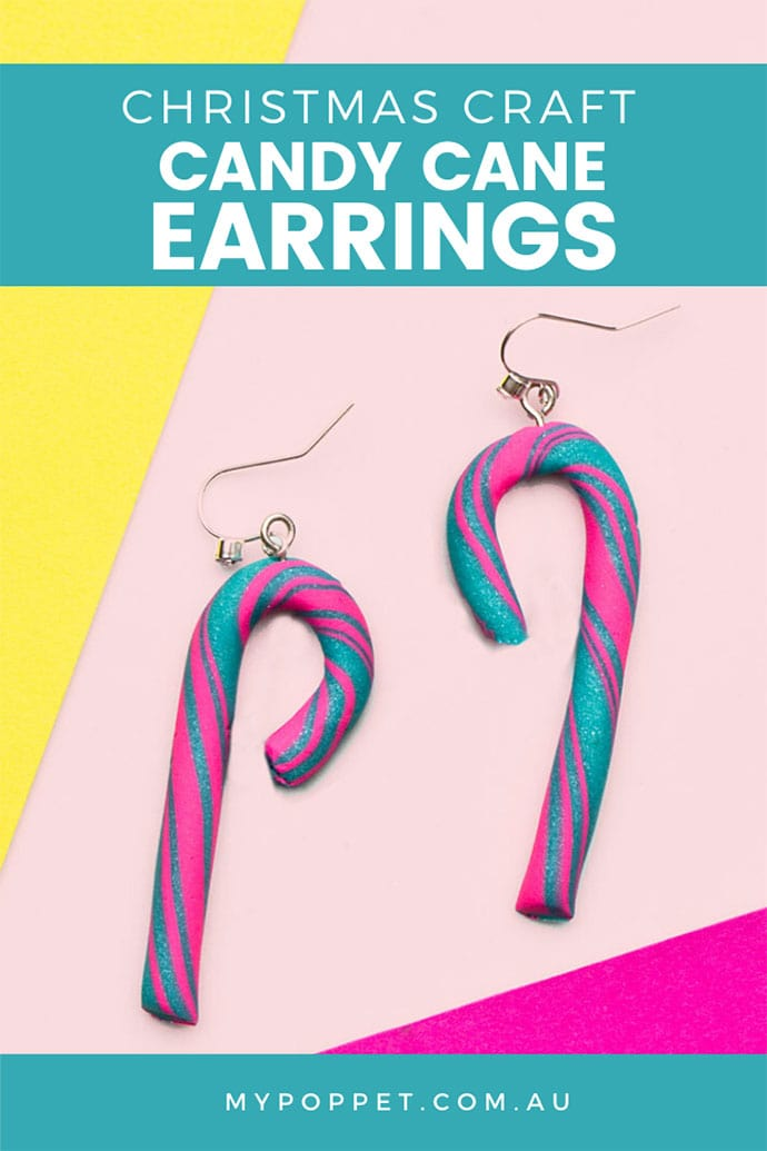 How to make candy cane earrings with polymer clay