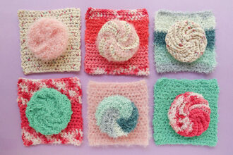 6 cotton crochet dishcloths - free pattern