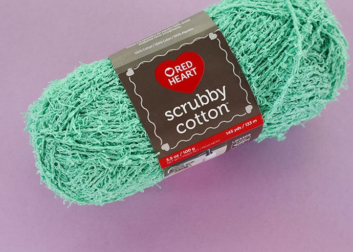 Red Heart Scrubby Cotton yarn