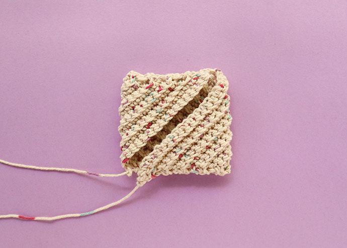 How to make a crochet spiral scrubbie