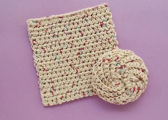 Sugar n cream Cotton yarn washcloths