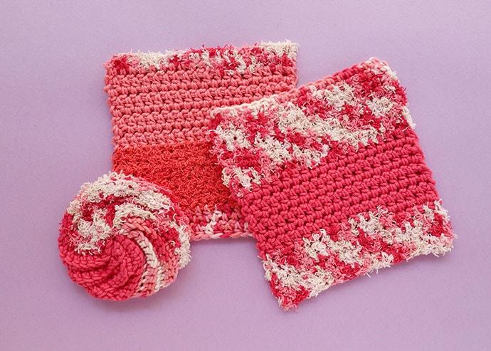 Lily sugar 'n cream scrub off yarn washcloths
