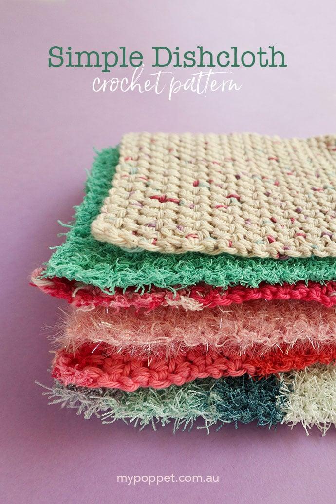 pile of cotton crochet dishcloths