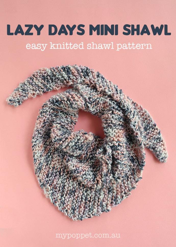 Light summer shawl knitting pattern