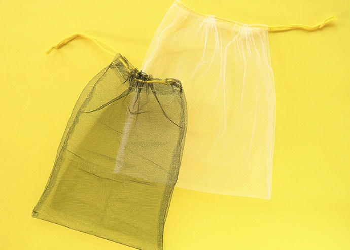 finished mesh produce bag