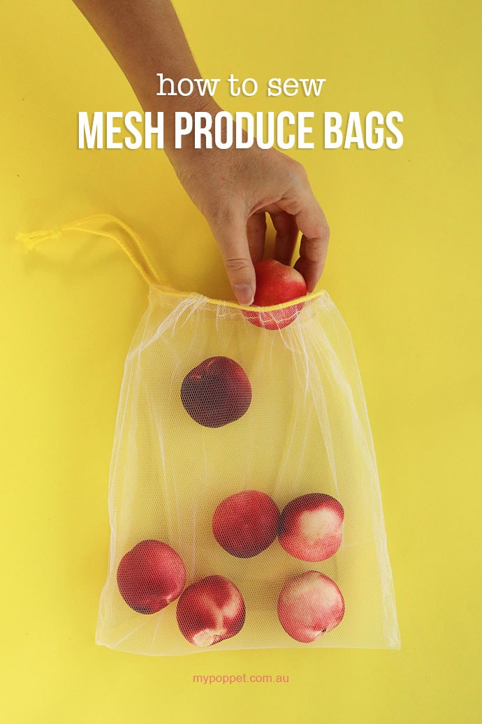 Mesh produce bags sewing tutorial