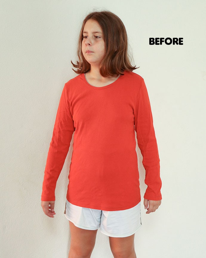 tshirt refashion before