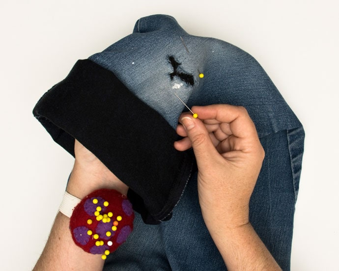 pin denim patch