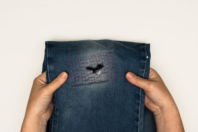 sashiko jean repair