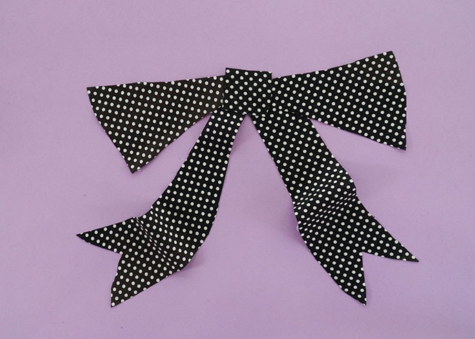 fabric bow ready for applique