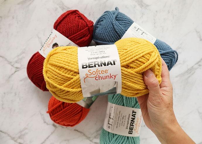 Bernat Softee Chunky yarn - Glowing Gold