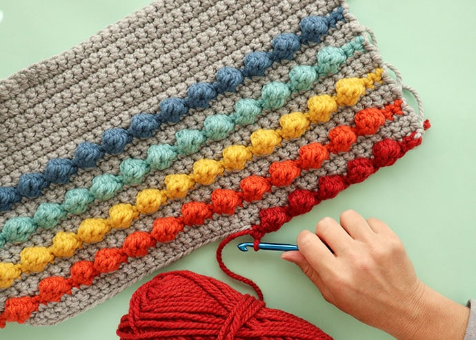 How to make a 4dc bobble stitch in crochet