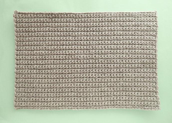 crochet rectange back of pillow