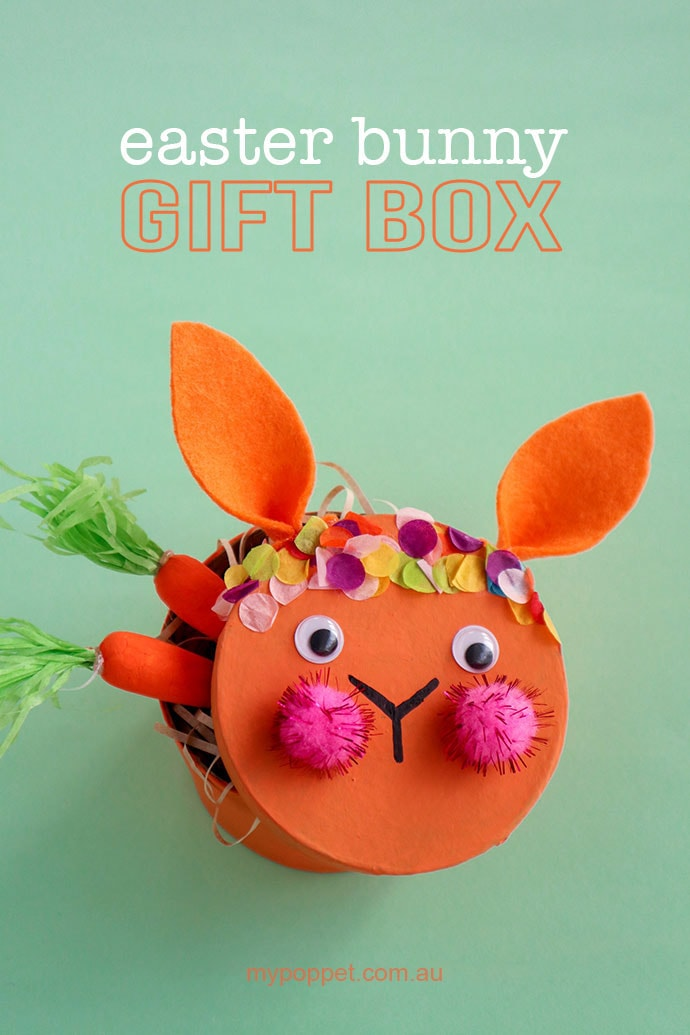 Easter bunny gift box title image