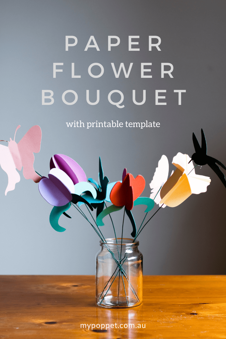 How to make a bouquet of paper flowers
