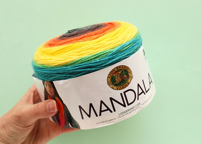 lion brand mandala yarn cake