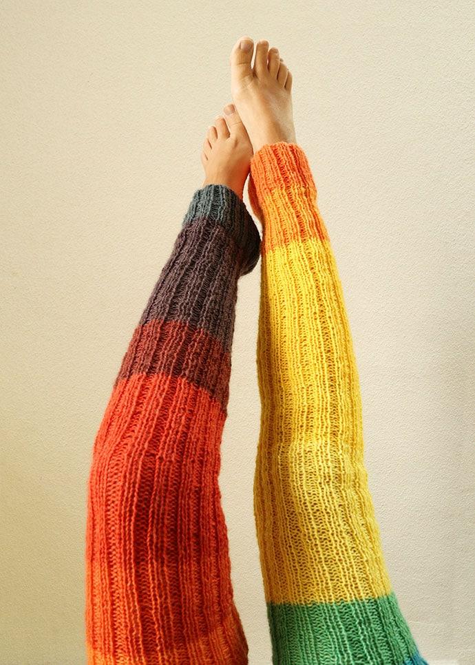 Knitted legwarmers