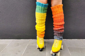 Super Scrunchy Extra Long Knitted Leg Warmer Pattern