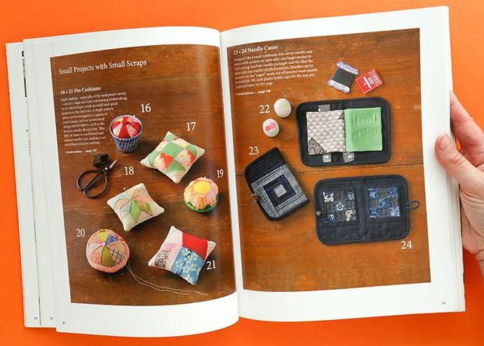 Shizuko Kuroha patchwork book review pin cushion