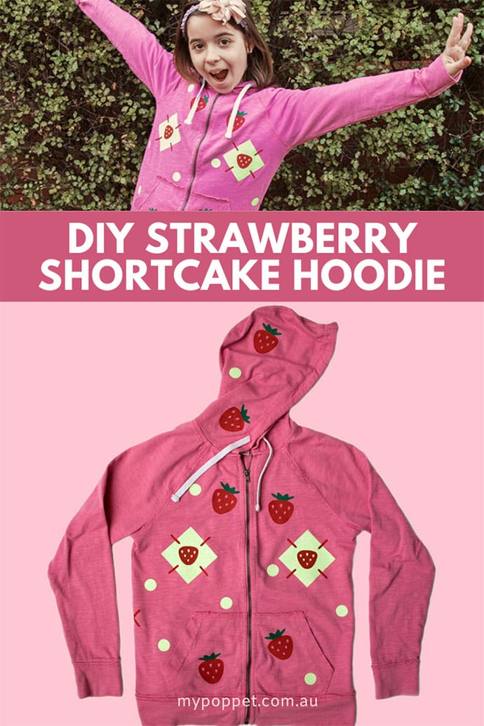 pink strawberry shortcake hoodie