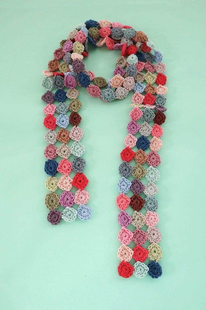 confetti scarf crochet pattern
