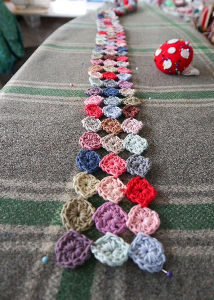 how to steam block crochet